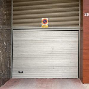 Puerta automática seccional – Piel